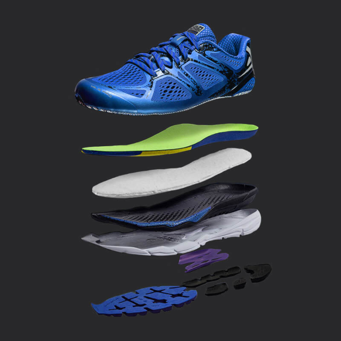 Smart running Shoe Composition blue
