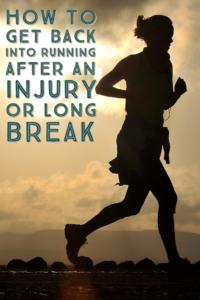 after an injury running